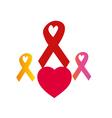 ribbons AIDS vector image