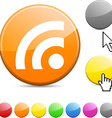 Rss glossy button vector image vector image