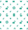 safe icons pattern seamless white background vector image vector image