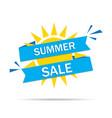 sale summer banner sun background for hot offer vector image