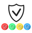 security shield confirmation check line icon for vector image