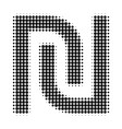 shekel halftone dotted icon vector image vector image