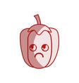 silhouette kawaii cute sad pepper vegetable vector image vector image
