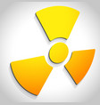 simple radiation radioactivity sign eps 10 vector image