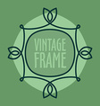 Simple vintage outlined frame Floral retro design vector image vector image