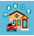 smart home technology set icons vector image vector image