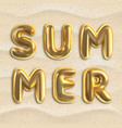 summer typographic design for party summertime vector image