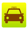 taxi sign brown icon at vector image vector image