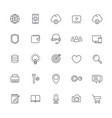 thin line web icons set on white vector image vector image