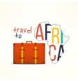 Travel to aftica concept African traveler vector image vector image