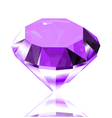 Violet diamond vector image