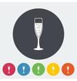 Wine flat icon vector image vector image