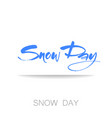 world snow day vector image