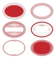 Red Oval Stamp Set vector image