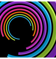 Abstract 3d circle rings backgound vector image