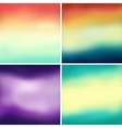 Abstract colorful blurred backgrounds set 5 vector image