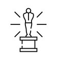 academy award line icon academy award concept vector image