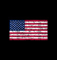 american flag brush painted flag of usa hand vector image