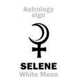 astrology selene white moon vector image vector image