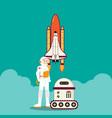 astronaut rocket and intelligent robot design