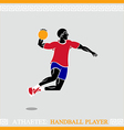 Athlete Handball player vector image vector image