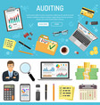 auditing and business accounting infographics vector image vector image
