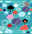 autumn pattern with clouds vector image