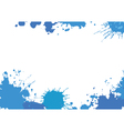 background with blue botches vector image