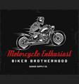 biker club vintage label vector image vector image