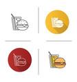 burger and soda icon vector image