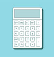 calculator icon in flat style with shadow vector image vector image
