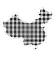china map halftone icon vector image