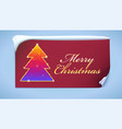 christmas tree with glitter and flashes new year vector image