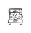 coffee maker with cup hand drawn sketch icon vector image