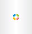 compass circle icon logo vector image vector image