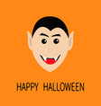 count dracula head smiling face cute cartoon vector image