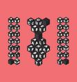 cube bold font alphabet vector image
