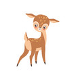 cute badeer adorable sweet forest fawn animal vector image vector image