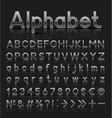 Decorative silver alphabet vector image vector image