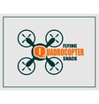 Drone icon Quadrocopter flying snack text vector image vector image
