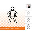 empty pockets simple black line icon vector image