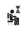 examing test writing man at desk black vector image