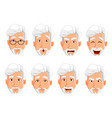 face expressions of business man with gray hair vector image vector image