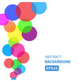 festive background with colorful glossy balls vector image