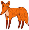 fox - colorful simple doodle graphic artwork vector image vector image
