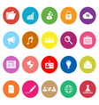 General document flat icons on white background vector image vector image