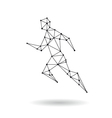 Geometric sport man design silhouette vector image vector image