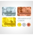 Gold silver and bronze cards and medals set in vector image