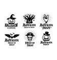 halloween set of labels or icons holiday symbol vector image