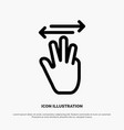 hand hand cursor up left right line icon vector image vector image